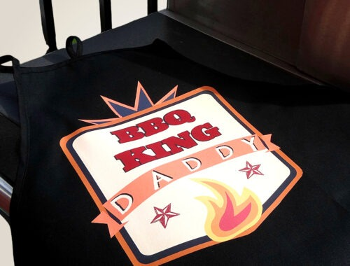 DIY BBQ Apron for Father's Day by Champagne and Sugarplums