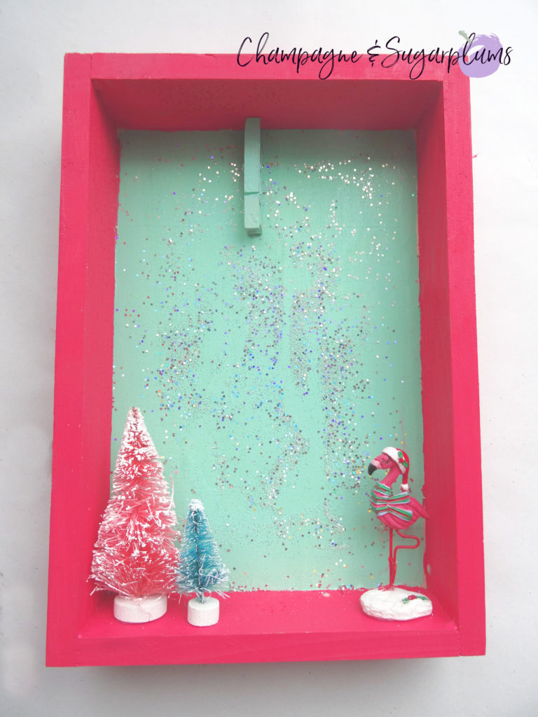 Completed colour pop Christmas card holder by Champagne and Sugarplums