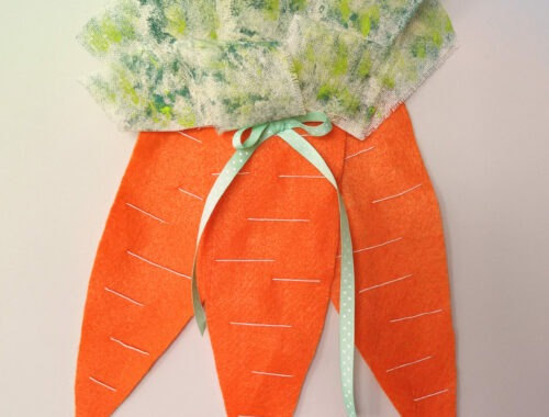 Easy Carrot Door Hanger Easter Craft by Champagne and Sugarplums