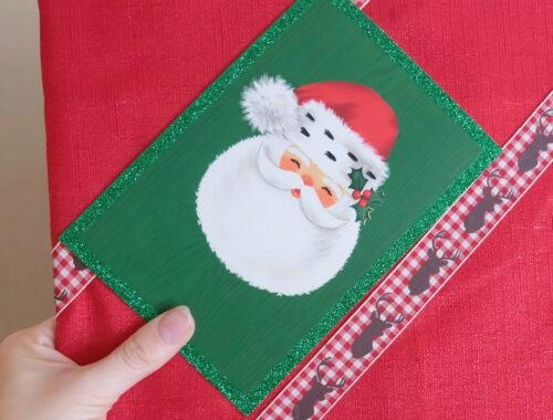DIY Christmas Card wall display pin board