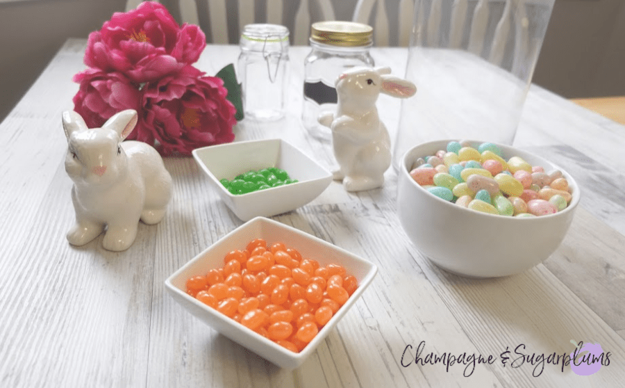 Decorating for Easter with candy by Champagne and Sugarplums