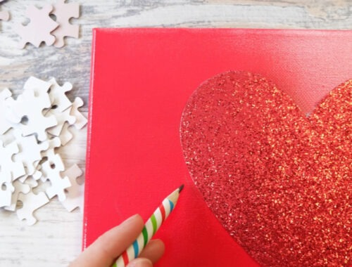 Easy DIY Valentine's Puzzle Heart by Champagne and Sugarplums