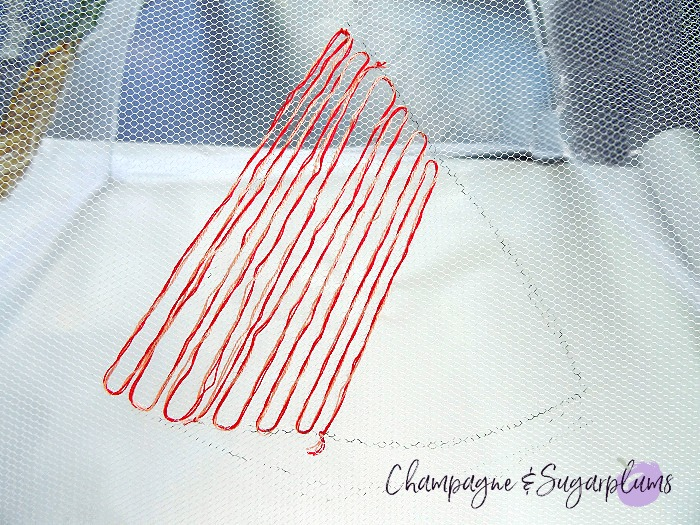 How to embroider a watermelon by Champagne and Sugarplums