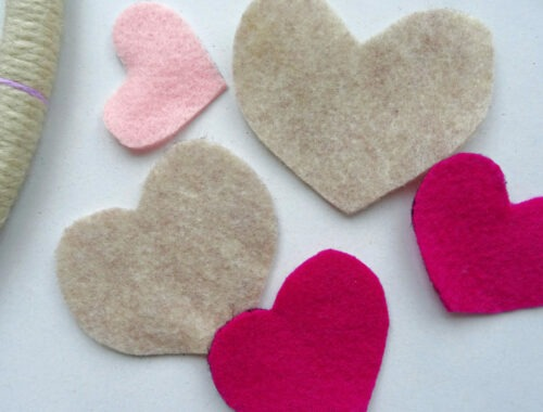 Hearts and Arrow Wreath Craft for Valentine's Day by Champagne and Sugarplums