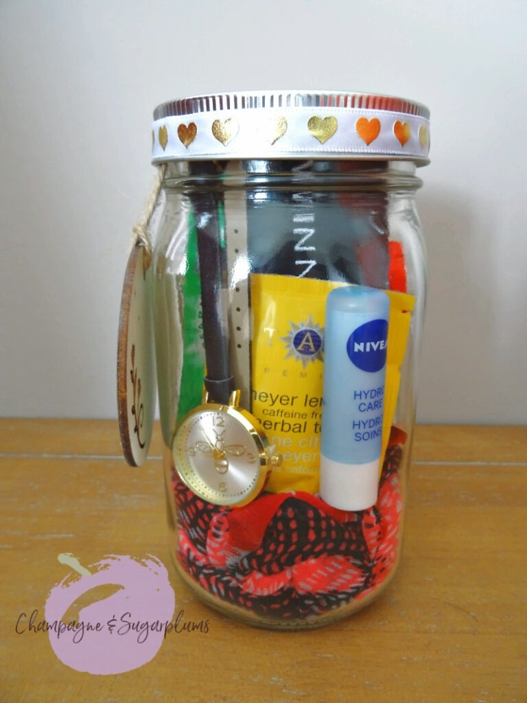 A completed everything jar by Champagne and Sugarplums