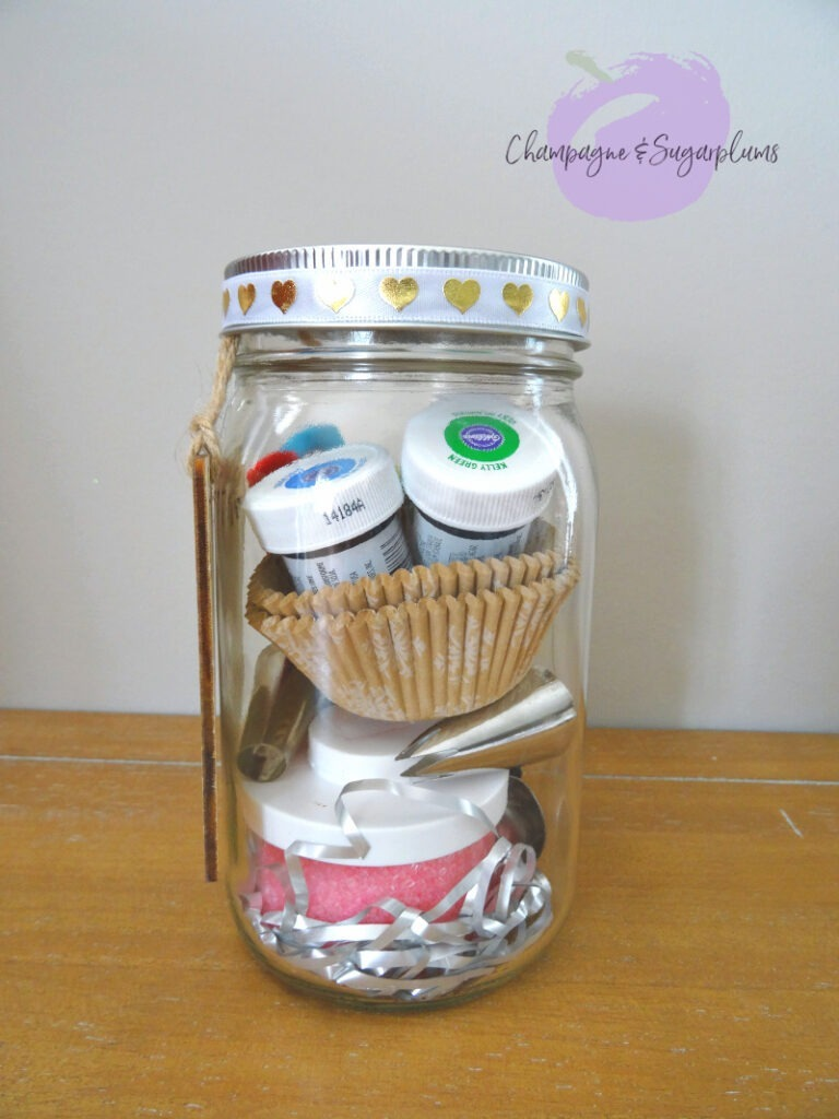 Completed baking mason jar by Champagne and Sugarplums