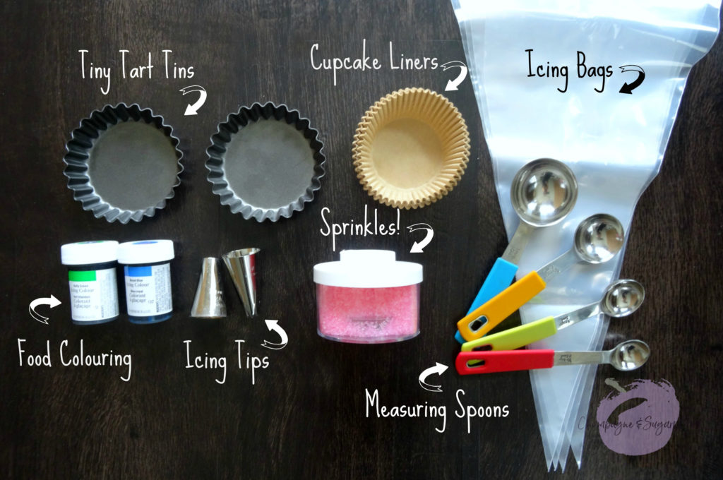 Examples for contents of a baking mason jar by Champagne and Sugarplums