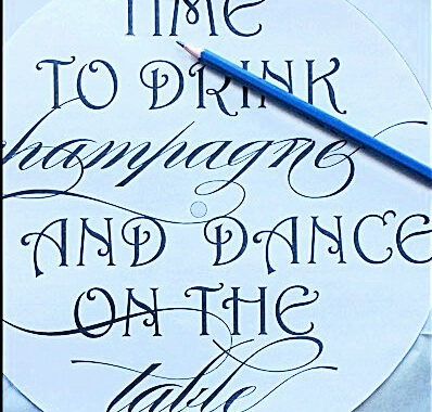 DIY New Years Count Down Clock by Champagne and Sugarplums