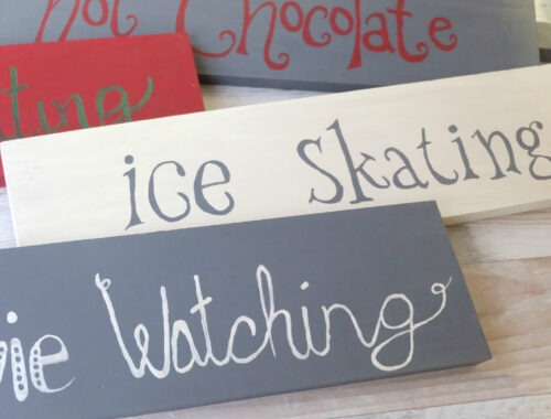 Personalized DIY Christmas wood sign post
