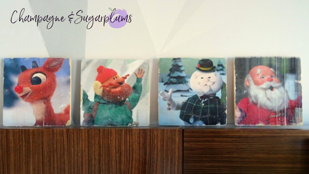 Retro inspired decoration with four characters by Champagne and Sugarplums