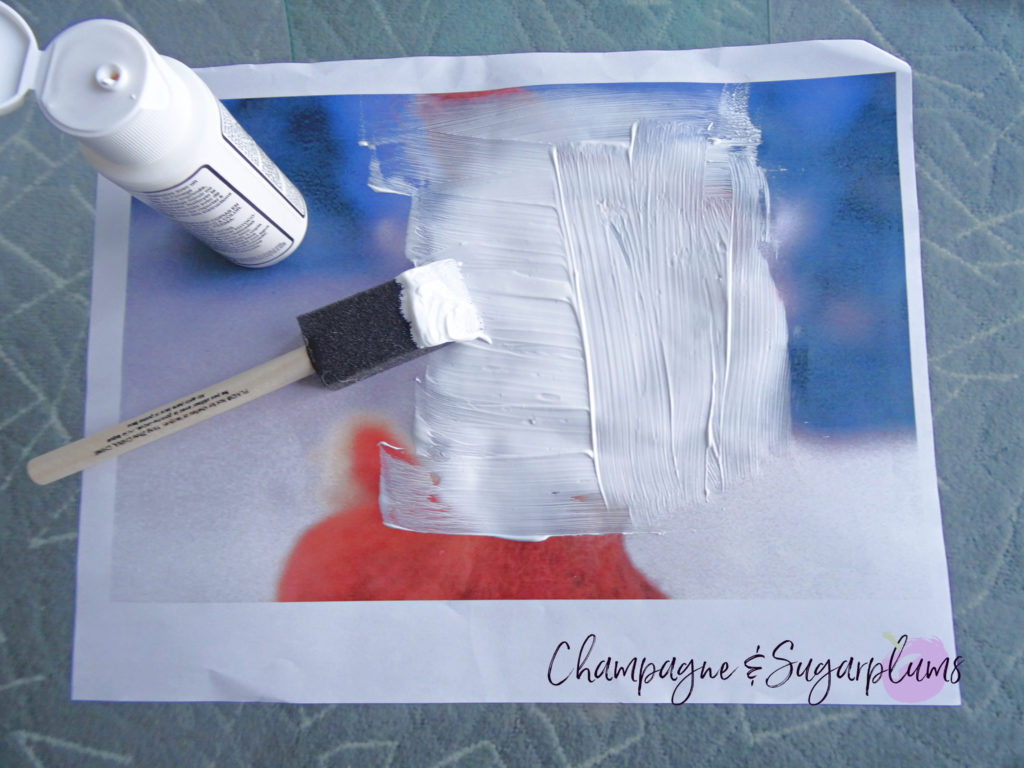 How to add the photo transfer medium to photo paper by Champagne and Sugarplums