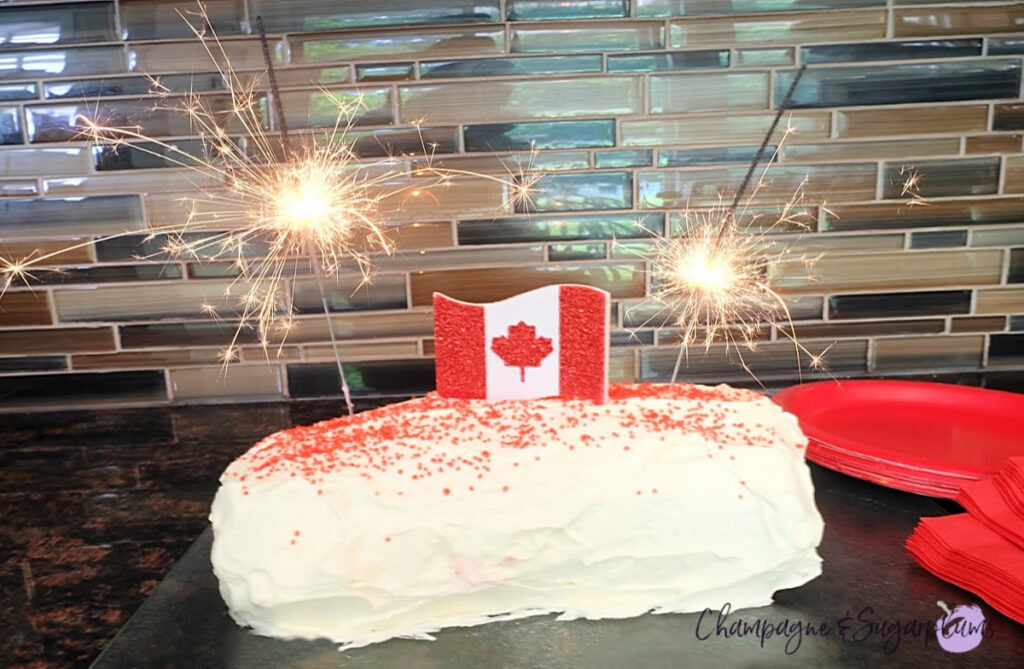 Canada Day White Chocolate Cake Roll Recipe