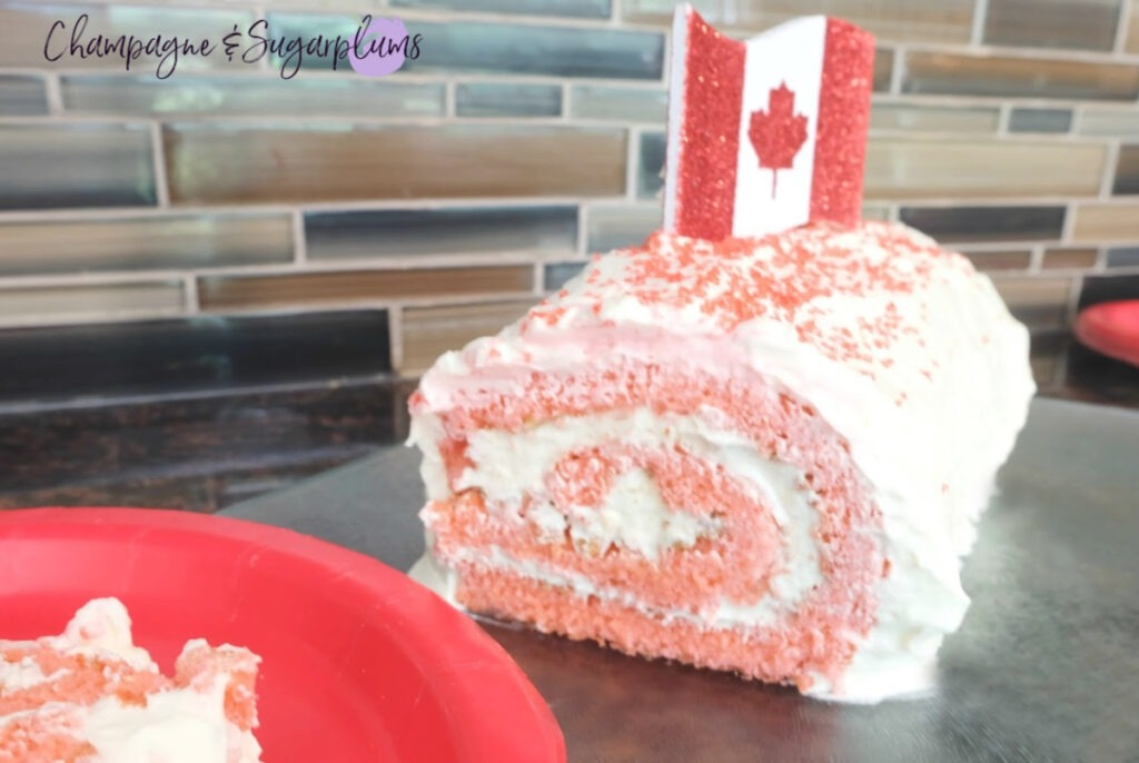 Canada Day White Chocolate Roll
