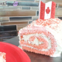 Canada Day White Chocolate Cake Roll by Champagne and Sugarplums