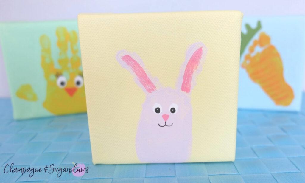 Cute Easter Bunny Fingerprint Idea