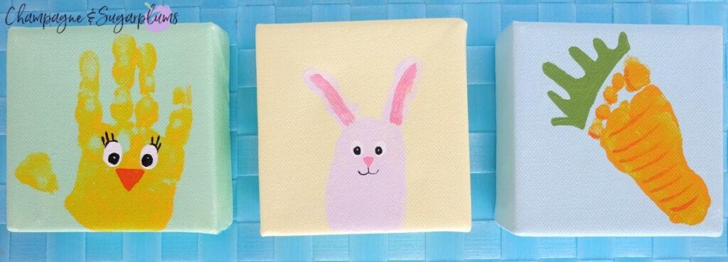 Cute Easter Handprint and Footprint Craft Details