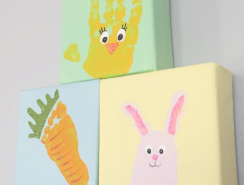 Cute Easter handprint and fingerprint craft idea