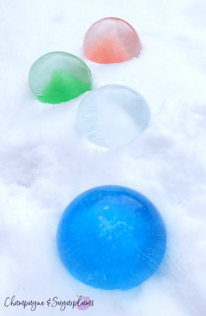 How to Make Ice Globes - Christmas Lights in the Snow
