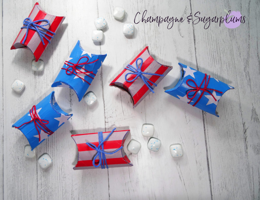 Fourth of July Favour Boxes by Champagne and Sugarplums