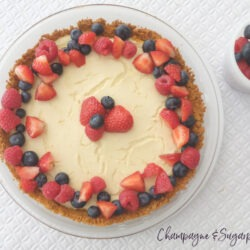 Red White and Blue Tofu Cheesecake Recipe by Champagne and Sugarplums