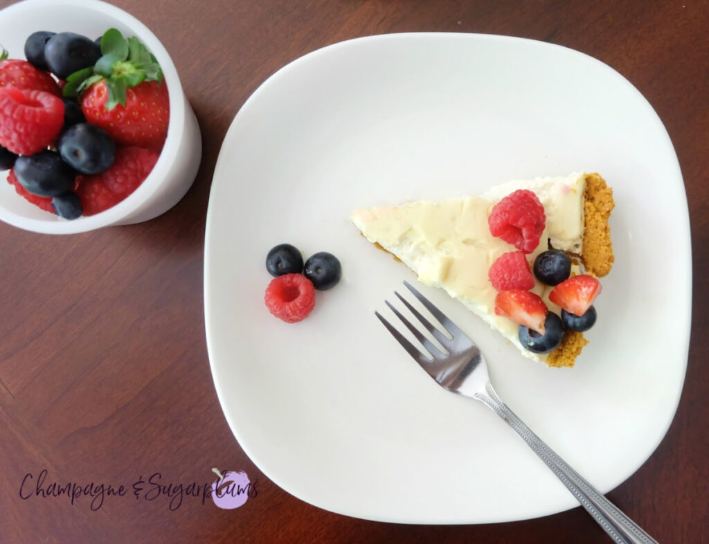 delicious July 4th cheesecake
