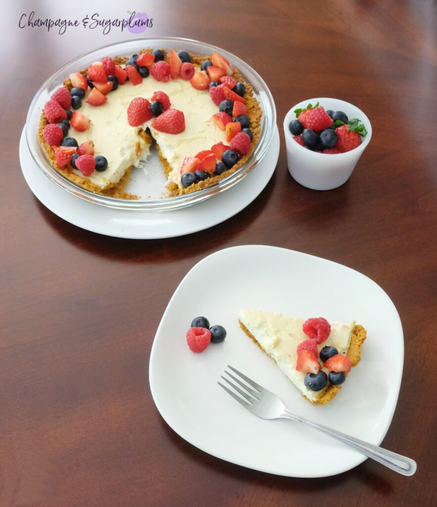 July 4th Red, White and Blue Tofu and Berry Cheesecake