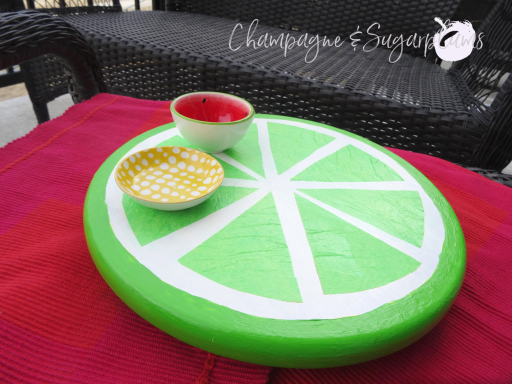 Summer Citrus Lazy Susan by Champagne and Sugarplums