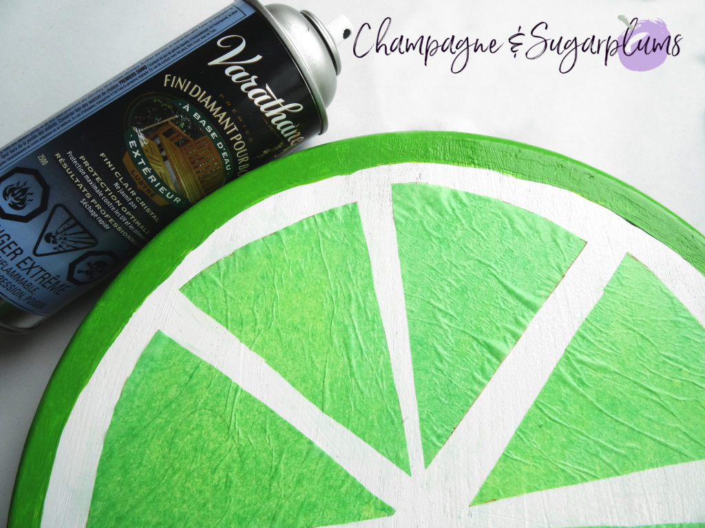 Lazy Susan with a can of sealer by Champagne and Sugarplums