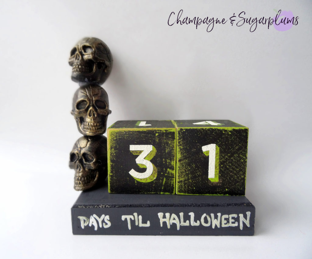 Halloween advent skull advent on a white background by Champagne and Sugarplums