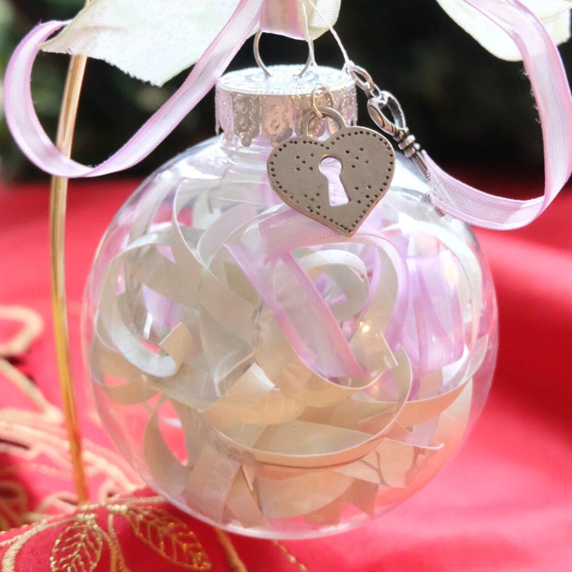 Unique DIY Wedding Invitation Christmas Ornament