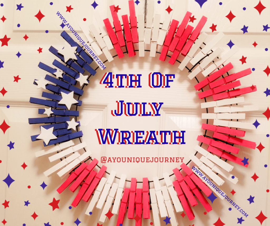 DIY 4th of July Wreath - A YouNique Journey