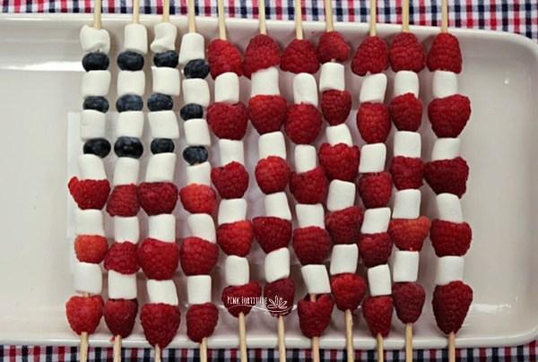 American Flag Fruit Skewer - Pink Fortitude