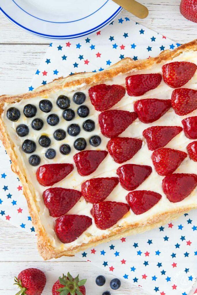 American Flag Tart - Cooking on the Front Burner