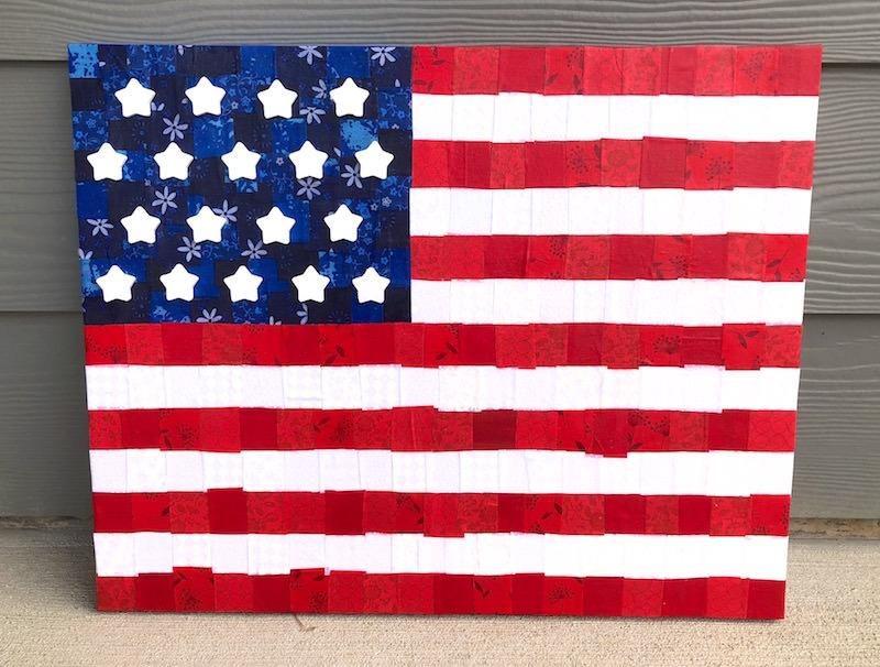 Mod Podge Rocks! American Flag Canvas