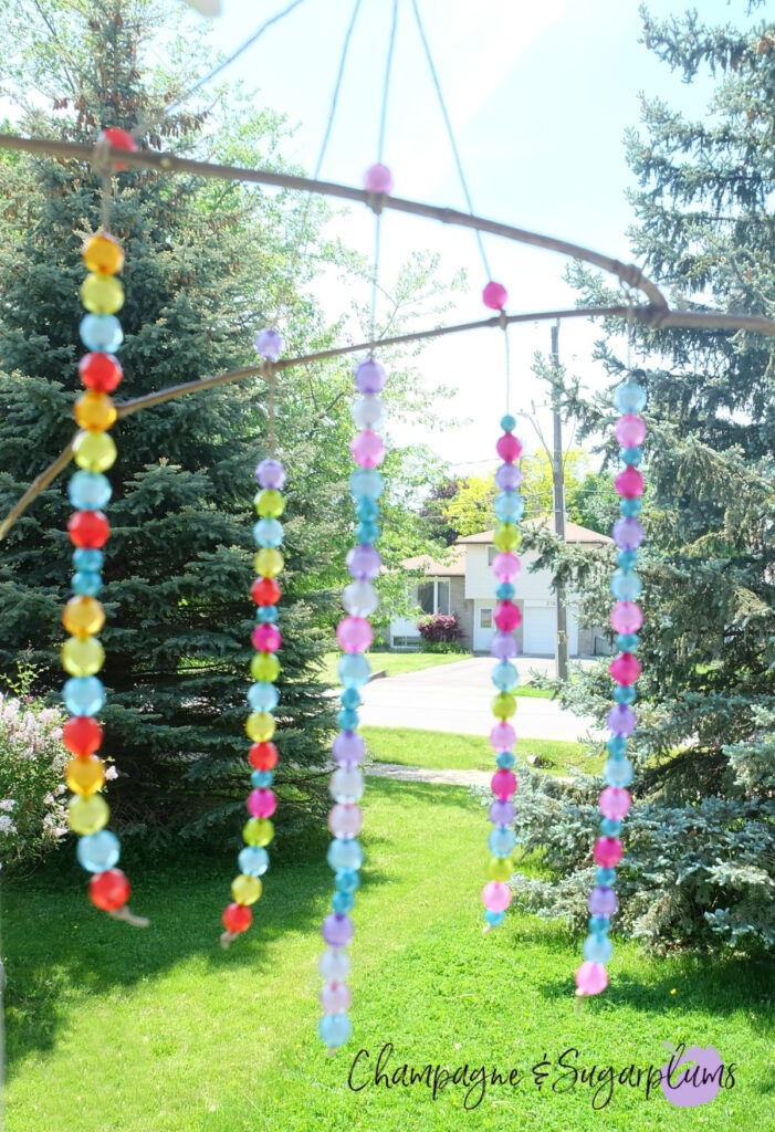Beaded Wind Chime Kids Craft Idea for the Long Weekend