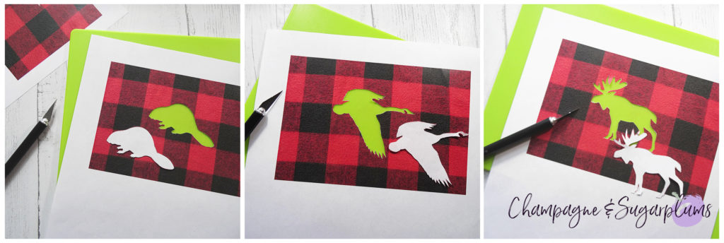 Cutting a animal shapes out of paper with a craft knife by Champagne and Sugarplums