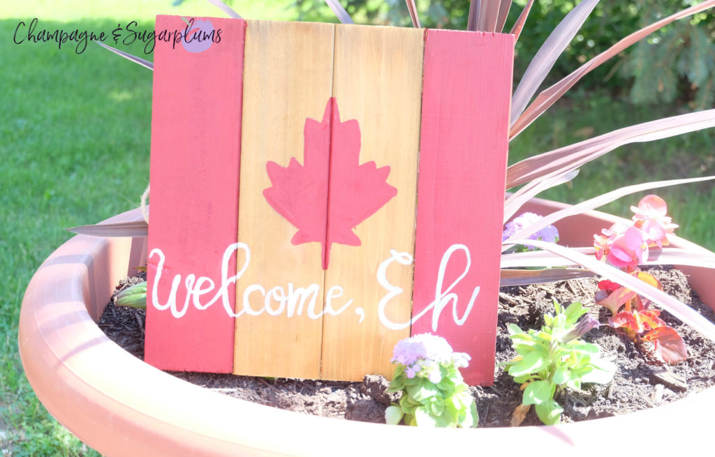 Welcome, Eh! Wooden Sign