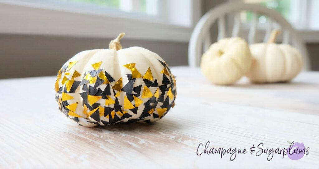 Confetti  DIY Thanksgiving Centrepiece Idea - Mini Pumpkins by Champagne and Sugarplums