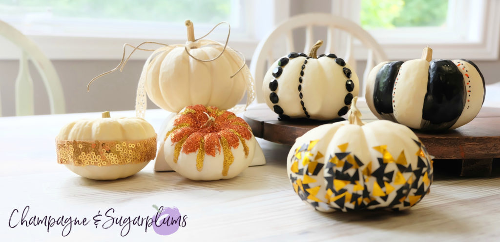 DIY Thanksgiving Centrepiece Idea - Mini Pumpkins by Champagne and Sugarplums