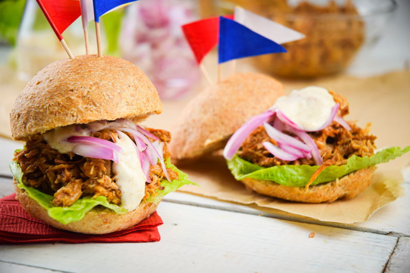 Pulled Pork Sliders for 4th of July - In the Kitch
