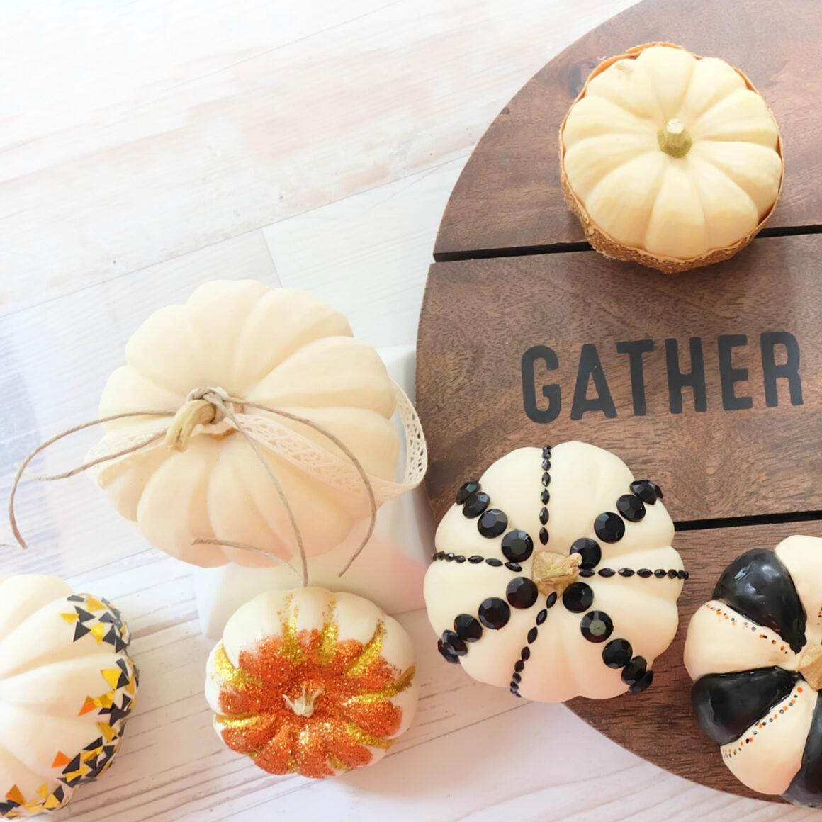 DIY Trendy Ways to Decorate Thanksgiving Mini Pumpkins