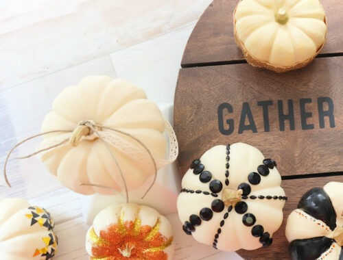 DIY Trendy Ways to Decorate Thanksgiving Mini Pumpkins
