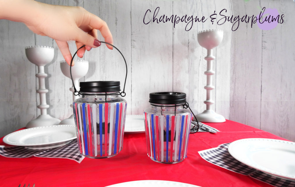 DIY Fourth of July Celebration Candles by Champagne and Sugarplums