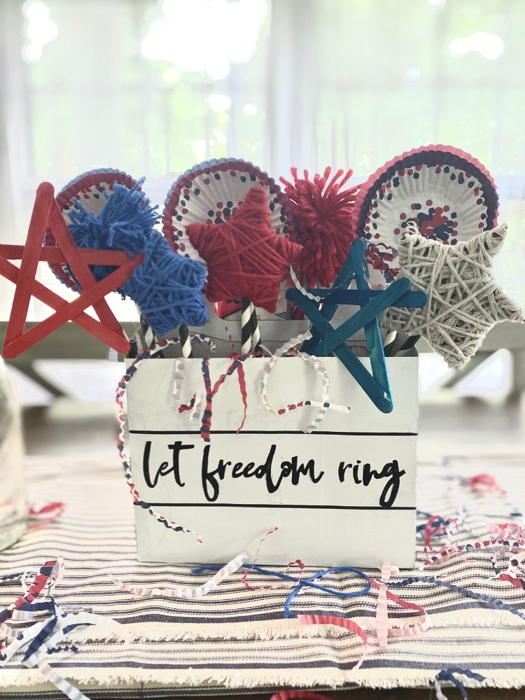 Upcycled Patriotic DIY Farmhouse Centrepiece (Cheap and Easy) -  A Hundred Affections