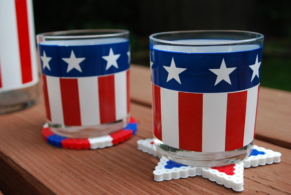 Fourth of July Kids Crafts: Perler Beads DIY Coasters - Merrimentdesign
