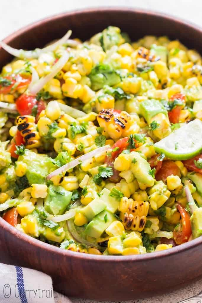 Best Avocado Corn Salad - Curry Tail