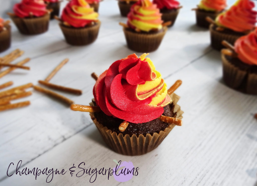 Iced cupcake by Champagne and Sugarplums