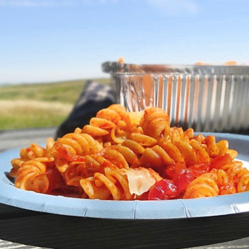Summer Campfire Rotini Pasta - Champagne and Sugarplums