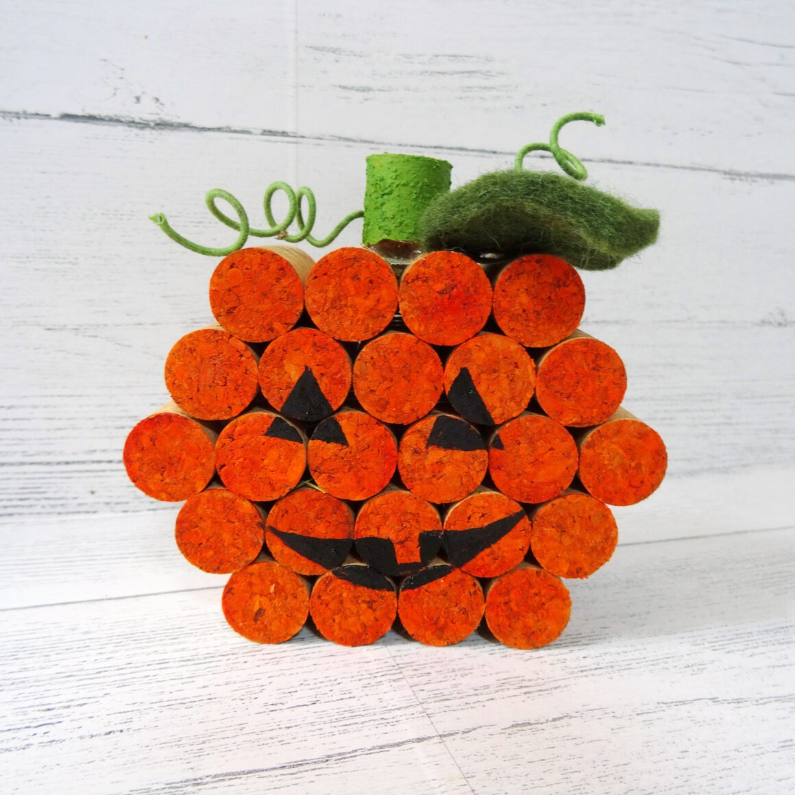 Cork Pumpkin on a white background by Champagne and Sugarplums