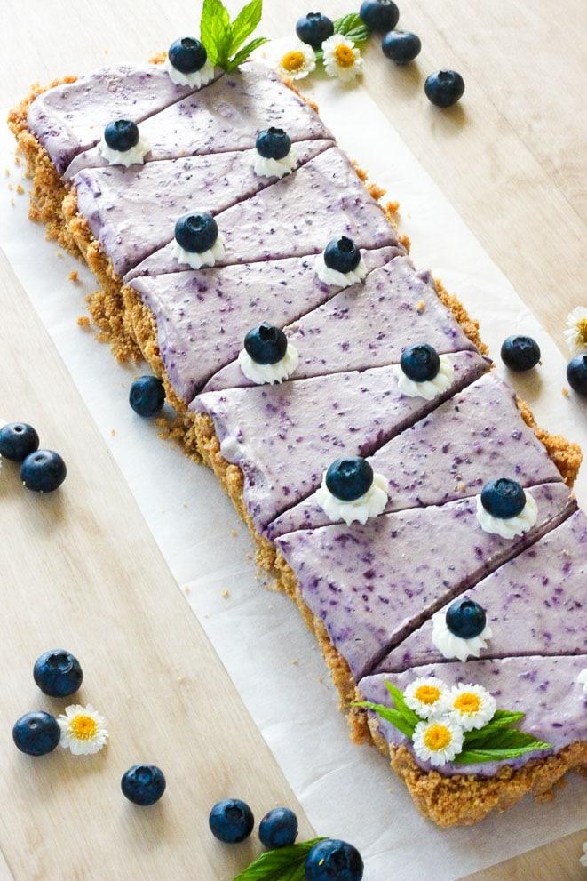 Easy No Bake Blueberry Cheesecake - Delicious On A Dime